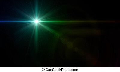 twinkle star cross lens flare green