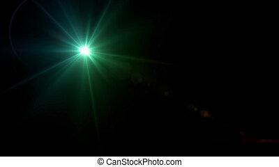 twinkle star lens flare green