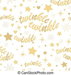 Twinkle stars seamless pattern - Seamless pattern with gold...