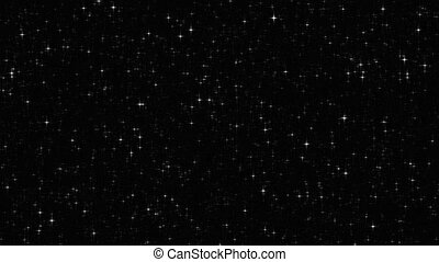 twinkling, estrelas, acima, volta