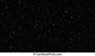 twinkling, estrelas, em, a, céu noite