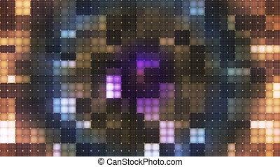 Twinkling Hi-Tech Cubic Diamond Light Patterns, Multi Color, Abstract, Loop, HD