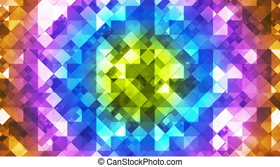 Twinkling Hi-Tech Diamond Light Patterns, Multi Color, Abstract, Loopable, HD