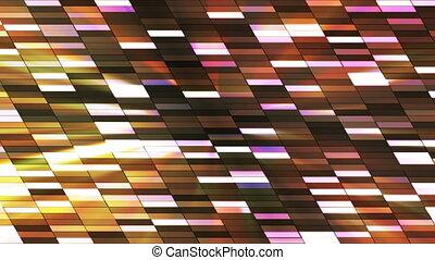 Twinkling Horizontal Slant Hi-Tech Small Bars, Multi Color, Abstract, Loop, HD
