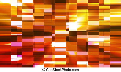 Twinkling Horizontal Small Squared Hi-Tech Bars, Multi Color, Abstract, Loop, HD