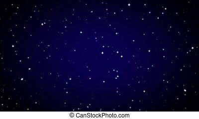 Twinkling magic stars on a clear starry night. - Twinkling...