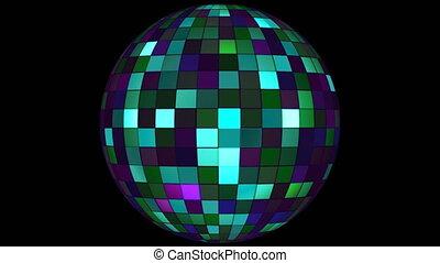 twinkling, olá-tecnologia, quadrados, globo girando, verde, eventos, alfa, matte, loopable, 4k