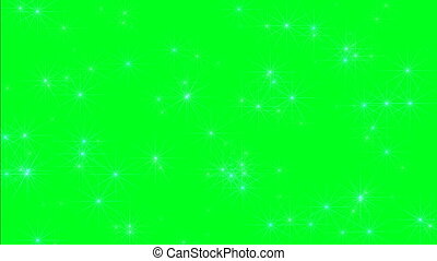Twinkling Stars On Green Screen