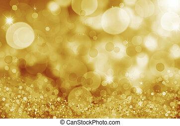 twinkly, plíčky, a, zlatý hřeb, vánoce, grafické pozadí
