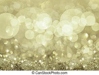 twinkly, stříbrný, plíčky, a, zlatý hřeb