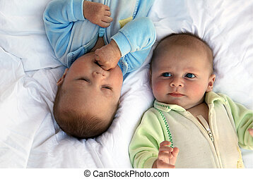 Twins - Two baby boys twin brothers