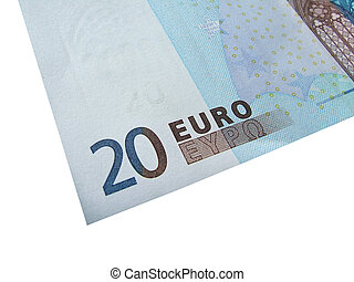 twintig euro, rekening