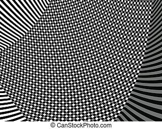 Black and white asymmetric pattern