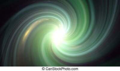 twirl green flare - The twirl is rotating with dark space...