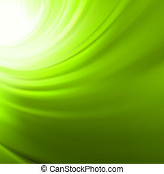 Twist background with green flow. EPS 8 - Abstract glow...