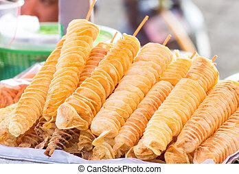 twist potato ,the spiral Potato Fried