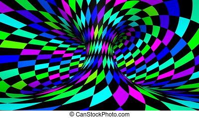Twist rotation - Wink - Loop twisted rotation - Rainbow wink...