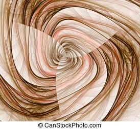 Twist Textures Abstract - Twisting, brown fiber textures...