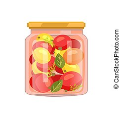Twist Top Glass with Veggie and Spicy Seasoning - Twist-top...