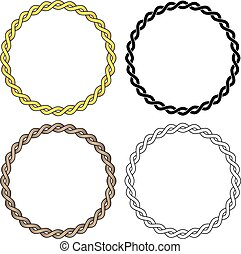 Twisted Braided Wire Rope Chain Vector Illustration