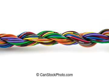 Twisted cables islated on white background
