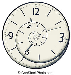 Twisted clock face. Time concept - Twisted clock face close ...