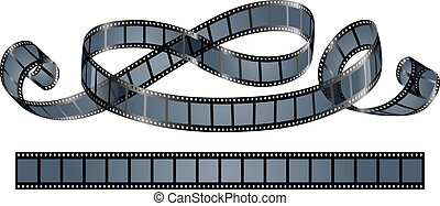 twisted film reel isolated on white background - eps10...