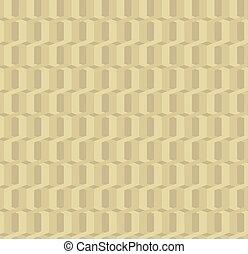 Twisted gold rings grunge seamless pattern. Geometric style....
