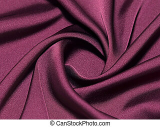 Twisted maroon silk - Close-up view on twisted maroon silk