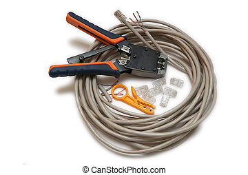 Twisted pair type of cable connection, is one or more pairs of insulated wires twisted together