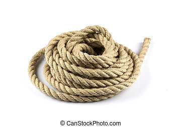 Twisted thick rope