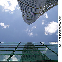 twisted tower block reflection - a reflection of the turning...