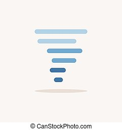 Twister. Color icon with shadow. Weather glyph vector illustration
