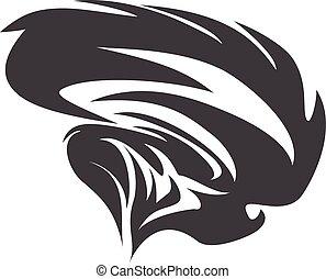 twister symbol vector sign of tornado spiral
