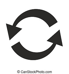 twisting arrows template - abstract symbol with two black ...