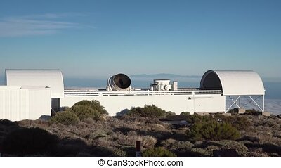twisting telescope at the astronomical station in the...