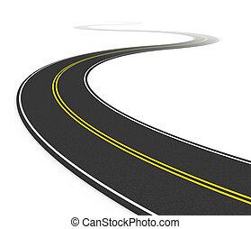 twisty, camino de asfalto