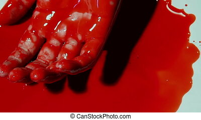 Twitching Bloody Hand Shot One