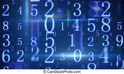 twitching glowing numbers loopable background
