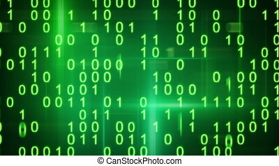 twitching green binary symbols loop