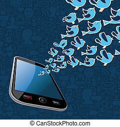 Twitter birds splash out smartphone application - Social...