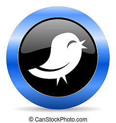 twitter blue glossy icon