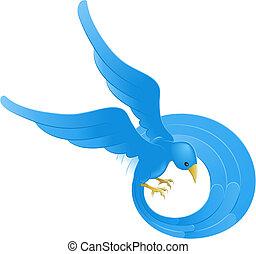 Twitter ing blue bird icon