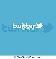 Twitter Logo Background Vector Image