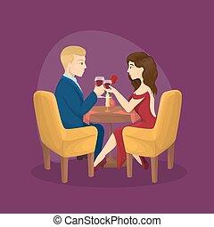 two., 夕食, ロマンチック