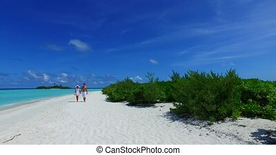 two 2 people walking romantic young people couple holding...