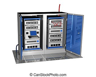 two 3d server racks