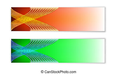 two abstract banner