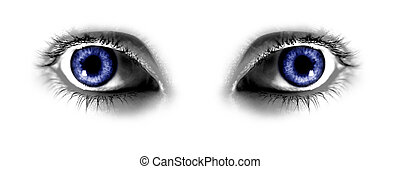 Two Abstract Blue Eyes - Two Abstract Blue Eye which is...