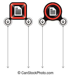 Two abstract frames for your text and document icon